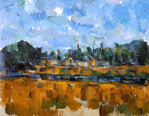 Paul Cezanne Riverbanks - Hand Painted Oil Painting