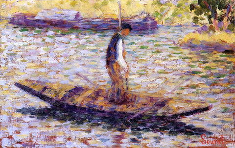 Georges Seurat Riverman (also known as Fisherman) - Hand Painted Oil Painting