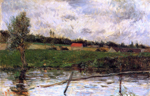 Paul Gauguin Riverside (also known as Breton Landscape) - Hand Painted Oil Painting