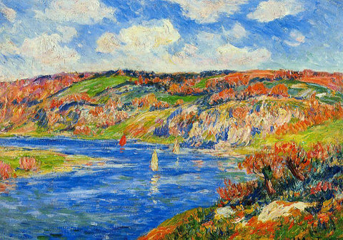 Henri Moret Riviere de St. Paurice, Finistere - Hand Painted Oil Painting