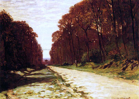 Claude Oscar Monet Road in a Forest - Hand Painted Oil Painting