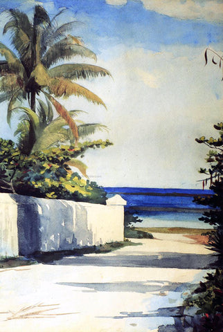 Winslow Homer Road in Nassau (also known as No.1 Nassau Street) - Hand Painted Oil Painting