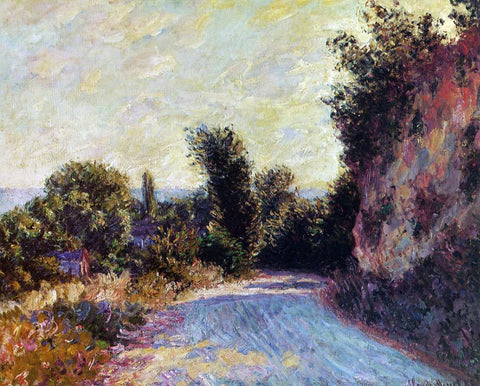 Claude Oscar Monet Road near Giverny - Hand Painted Oil Painting