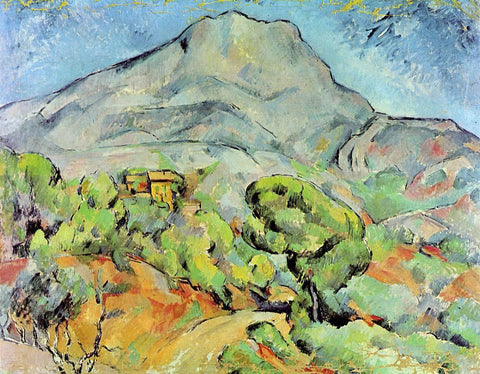 Paul Cezanne Road near Mont Sainte-Victoire - Hand Painted Oil Painting