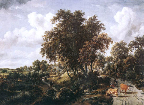 Meyndert Hobbema Road on a Dyke - Hand Painted Oil Painting