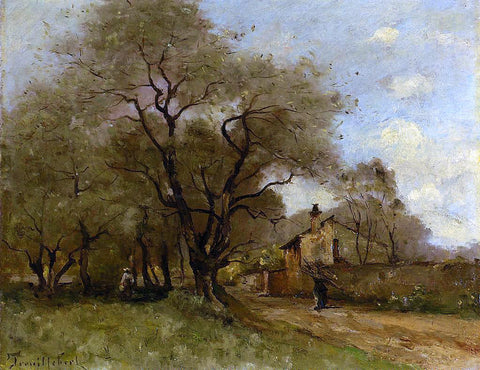 Paul Desire Trouillebert Road on the Edge of a Village - Hand Painted Oil Painting