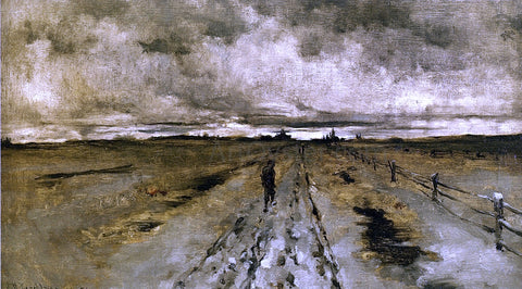John Twachtman Road Scene, Cincinnati - Hand Painted Oil Painting