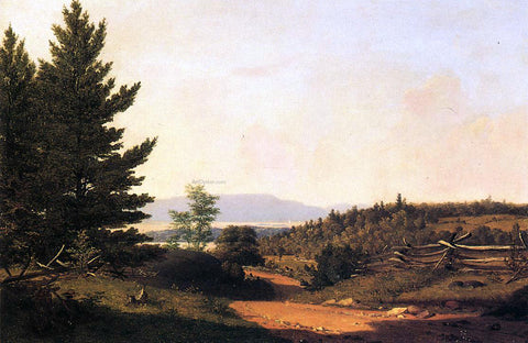 Sanford Robinson Gifford Road Scenery near Lake George - Hand Painted Oil Painting
