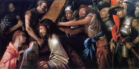 Giovanni Cariani Road to Calvary with Veronica's Veil - Hand Painted Oil Painting