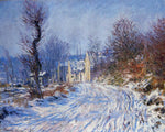 Claude Oscar Monet Road to Giverny in Winter - Hand Painted Oil Painting