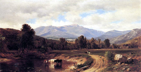 Samuel Lancaster Gerry Road to the Mountains - Hand Painted Oil Painting