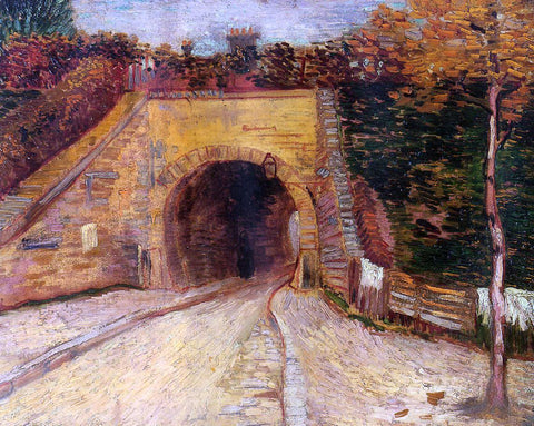 Vincent Van Gogh Roadway with Underpass (also known as The Viaduct) - Hand Painted Oil Painting