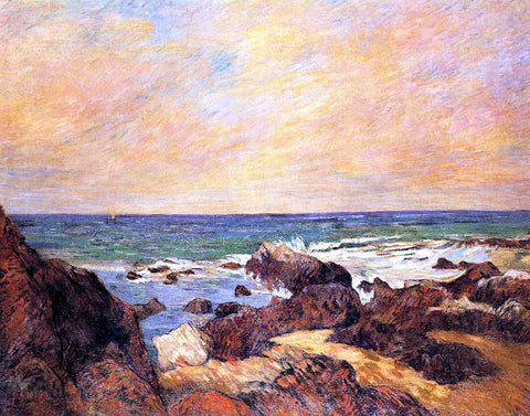 Paul Gauguin Rocks and Sea - Hand Painted Oil Painting
