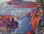 Theo Van Rysselberghe Rocks at Antheor - Hand Painted Oil Painting
