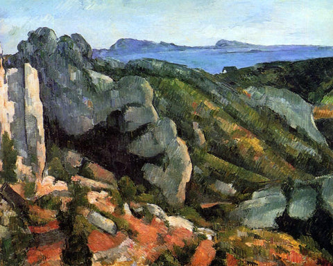 Paul Cezanne Rocks at L'Estaque - Hand Painted Oil Painting