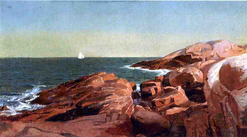 William Stanley Haseltine Rocks at Narragansett - Hand Painted Oil Painting