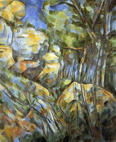 Paul Cezanne Rocks near the Caves above the Chateau Noir - Hand Painted Oil Painting