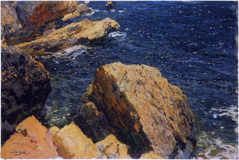 Joaquin Sorolla Y Bastida Rocks of the Cape, Javea - Hand Painted Oil Painting