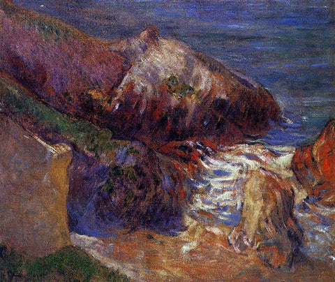 Paul Gauguin Rocks on the Coast - Hand Painted Oil Painting