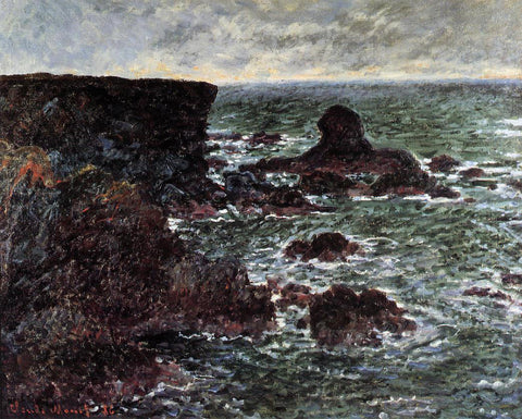 Claude Oscar Monet Rocky Coast and the Lion Rock, Belle-Ile - Hand Painted Oil Painting