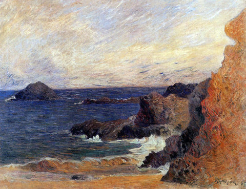 Paul Gauguin Rocky Coast - Hand Painted Oil Painting