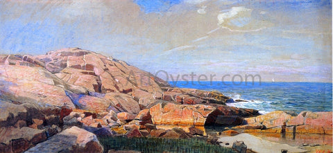 William Stanley Haseltine Rocky Coast of New England - Hand Painted Oil Painting