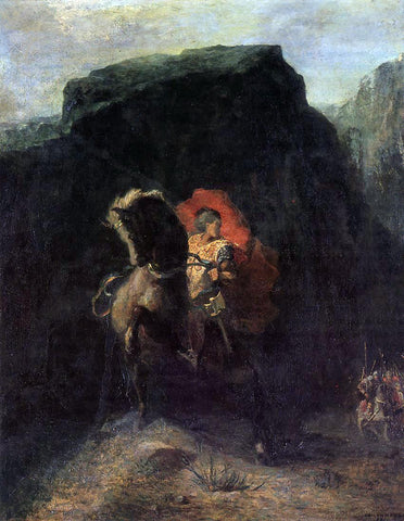 Odilon Redon Roland at Roncevaux - Hand Painted Oil Painting