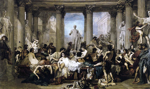 Thomas Couture Romans of the Decadence - Hand Painted Oil Painting
