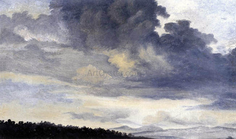 Pierre-Henri De Valenciennes Rome: Study of Clouds - Hand Painted Oil Painting