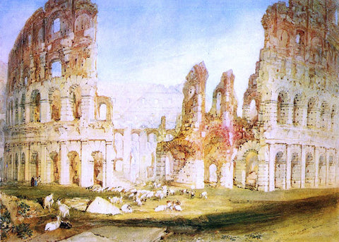 Joseph William Turner Rome: The Colosseum - Hand Painted Oil Painting