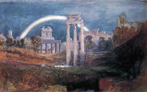 Joseph William Turner Rome: The Forum with a Rainbow - Hand Painted Oil Painting