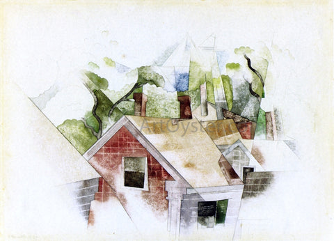 Charles Demuth Rooftops - Hand Painted Oil Painting