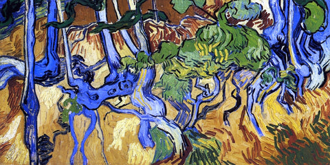 Vincent Van Gogh Roots and Tree Trunks - Hand Painted Oil Painting
