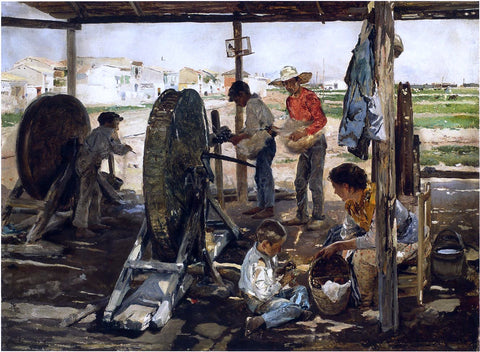 Joaquin Sorolla Y Bastida Ropemakers - Hand Painted Oil Painting