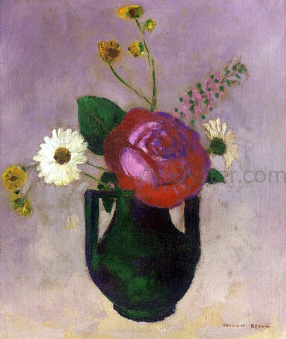 Odilon Redon Rose and Daisy - Hand Painted Oil Painting