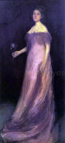 James McNeill Whistler Rose and Green: The Iris - Portrait of Miss Kinsella - Hand Painted Oil Painting