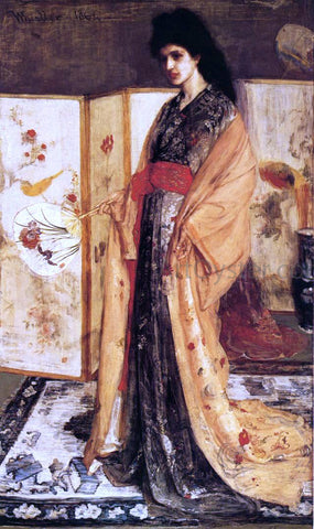 James McNeill Whistler Rose and Silver: The Princess from the Land of Porcelain - Hand Painted Oil Painting