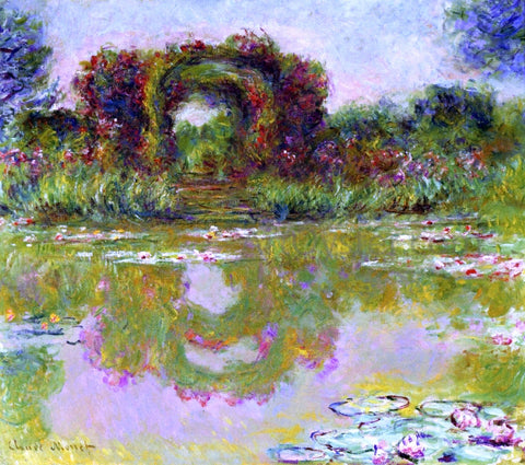 Claude Oscar Monet Rose Arches at Giverny (also known as The Floral Arch) - Hand Painted Oil Painting
