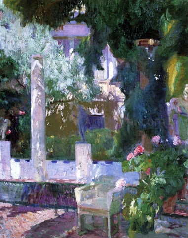 Joaquin Sorolla Y Bastida Rose Bush at the Sorolla House - Hand Painted Oil Painting