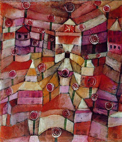 Paul Klee Rose Garden - Hand Painted Oil Painting