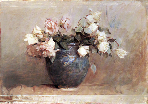 Abbott Handerson Thayer Roses - Hand Painted Oil Painting