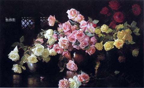 Joseph DeCamp Roses - Hand Painted Oil Painting