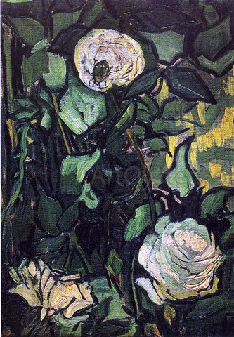 Vincent Van Gogh Roses and Beetle - Hand Painted Oil Painting