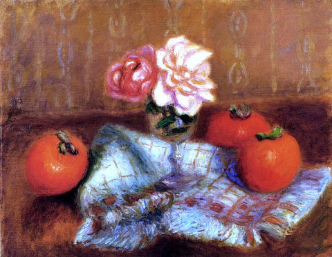 William James Glackens Roses And Persimmons - Hand Painted Oil Painting