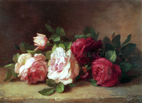 Anna Eliza Hardy Roses - Hand Painted Oil Painting