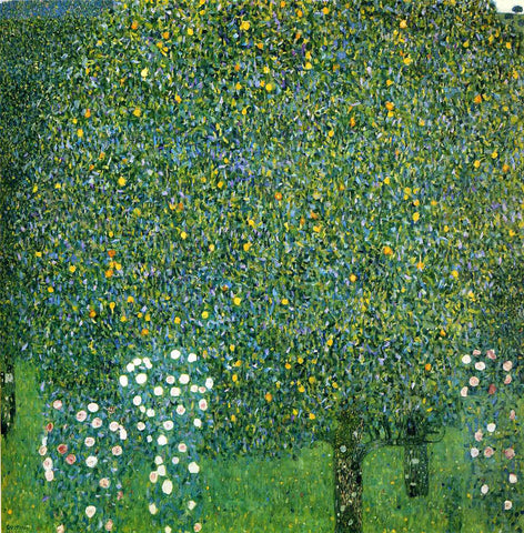 Gustav Klimt Roses Under the Trees - Hand Painted Oil Painting