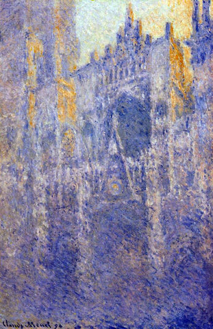 Claude Oscar Monet Rouen Cathedral, the Portal, Morning Fog - Hand Painted Oil Painting