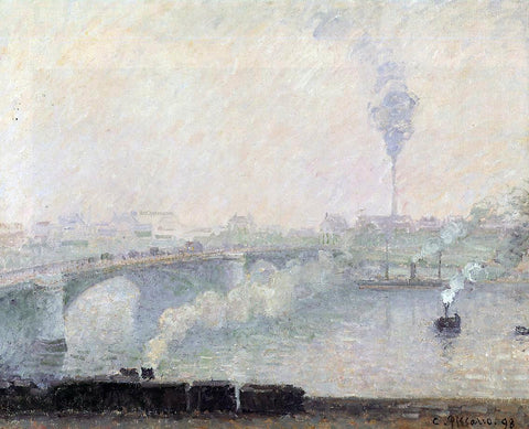 Camille Pissarro Rouen, Fog Effect - Hand Painted Oil Painting