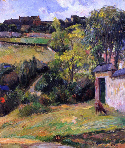 Paul Gauguin Rouen Suburb - Hand Painted Oil Painting