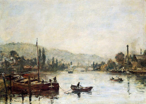 Eugene-Louis Boudin Rouen, the Santa-Catherine Coast, Morning Mist - Hand Painted Oil Painting